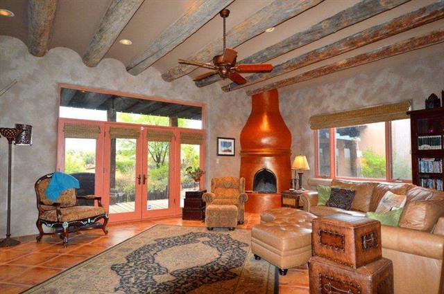 Taos Real Estate 14 Camino de Miguel TAOS MLS 96919 Living Room