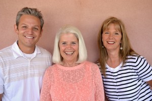 Brandon Rose, Diane Enright and Janet Dearing